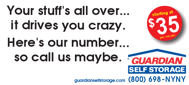 Your stuff's all over...  It drives you crazy.   Here's our number...   so call us maybe.