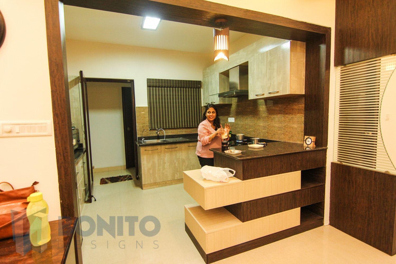 Open Kitchen With Breakfast Counter Designs Kitchen Counter Design Counter Design Wooden Partition Design