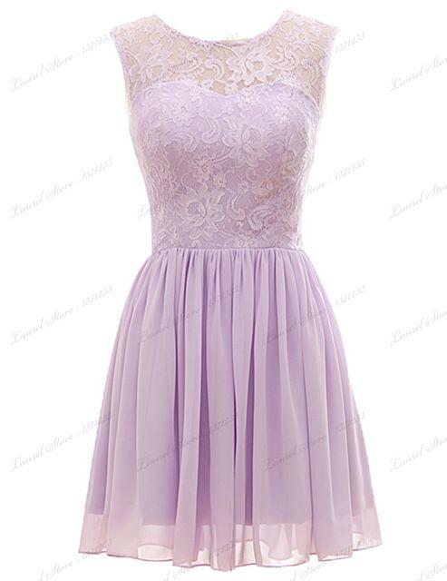 Fashion Design Chiffon Lavender Bridesmaid Dresses Short Cap Sleeve Open  Back Junior Bridesmaid Gown Knee Length Plus Size Dress 0fedb7900976