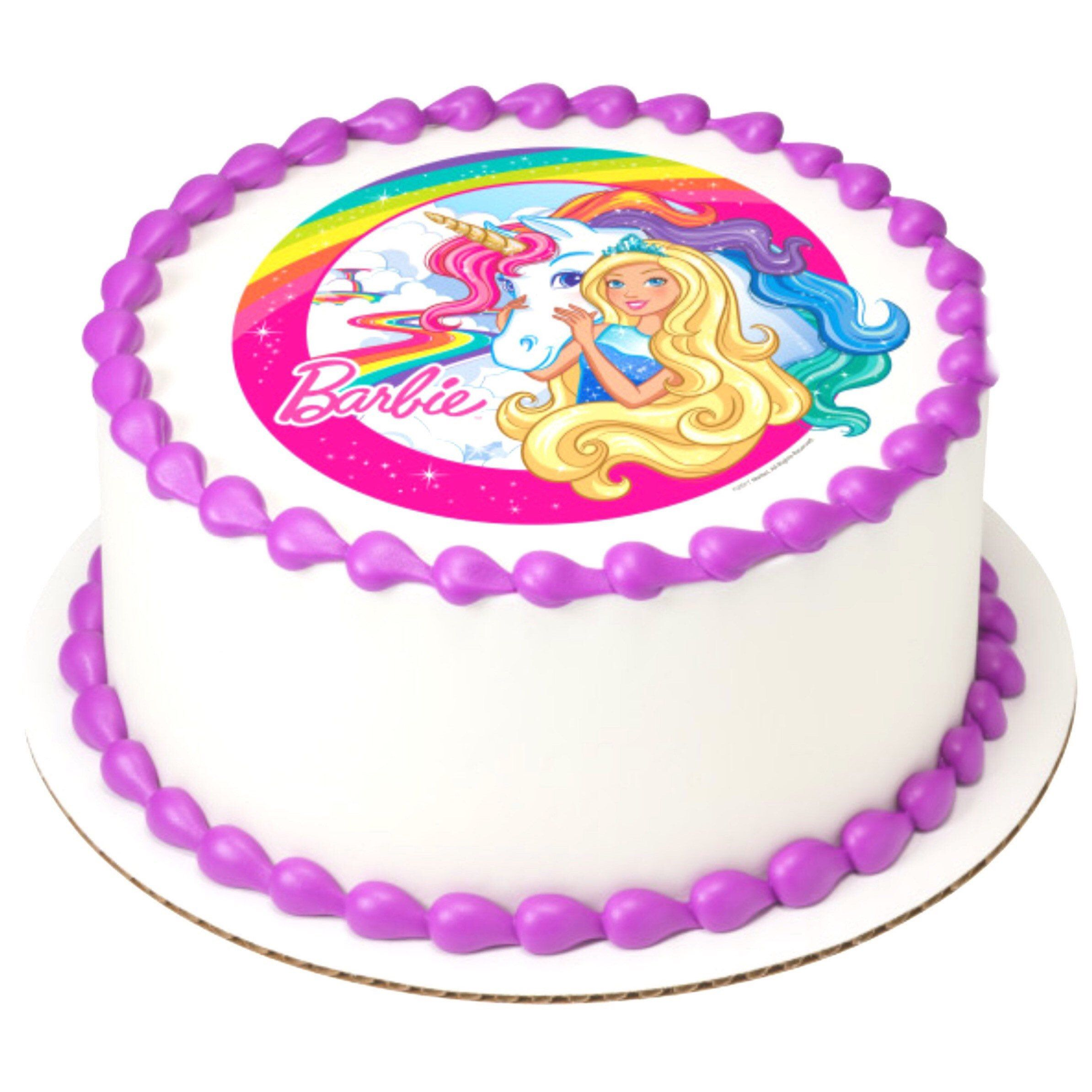 Unicorn white personalised edible cake topper//decoration