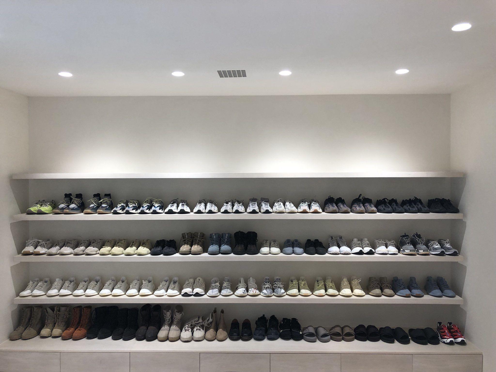 Kanye West Sneaker Closet Haus Innenraume Kardashian Haus Haus Architektur