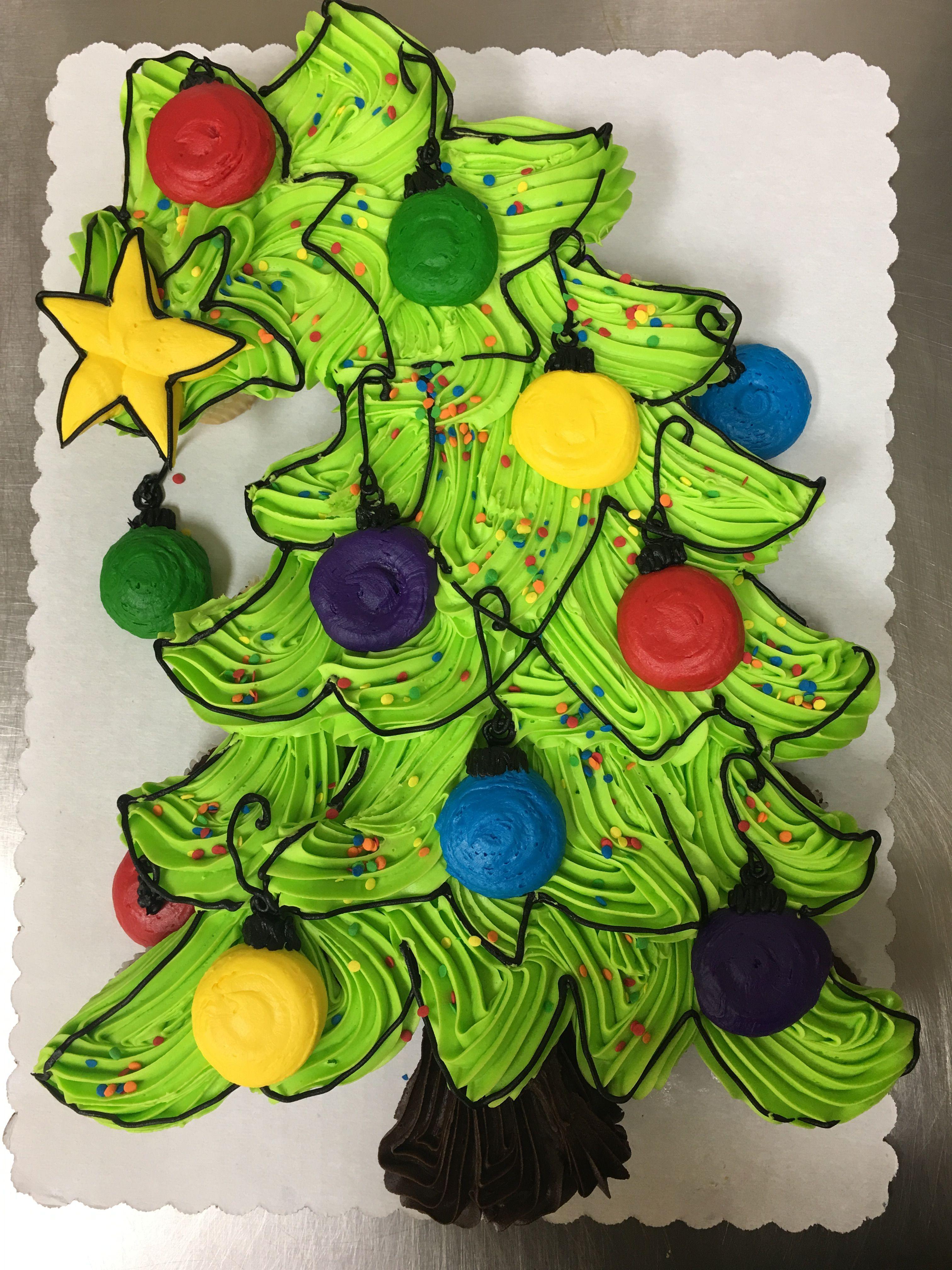 Christmas tree cupcake -cake I would make the star and ...