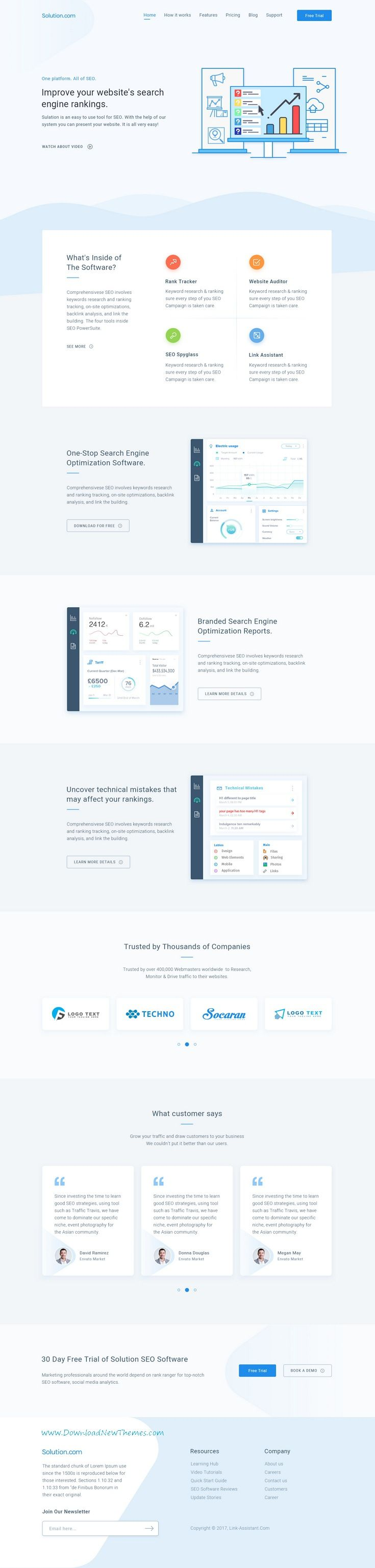 Spring Software App Saas Product Showcase Landing Page Inspiracao
