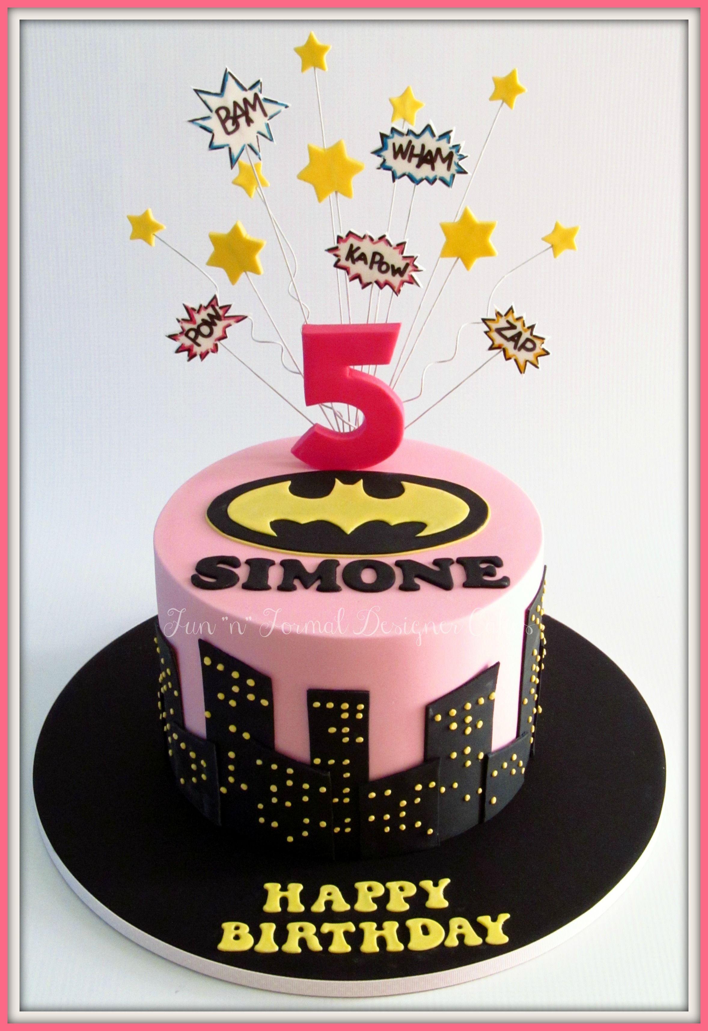 Batgirl Themed Cake Nancy And Charlottes Party Pinterest