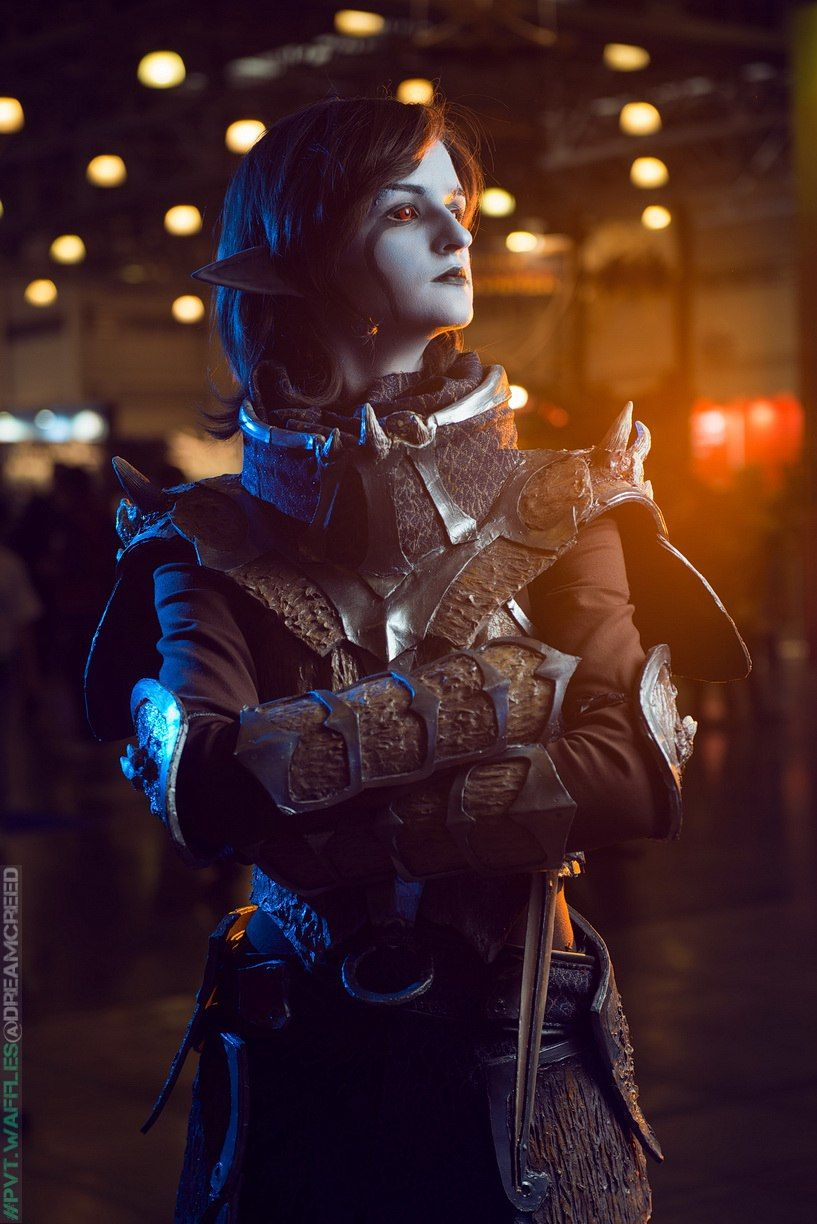 Nice start of the October! Dunmer Warrior - Valara Atran  came to IgroMir (GameWorld) and Russia ComicCon 2015 with her Dragonscale Armor cosplay set Model, craft - Valara Atran (whitedemon19) [VK] [TB] [WorldCosplay] Photos by Sei, Kirchos.ru, PrivateWaffles, Pantyhose_man