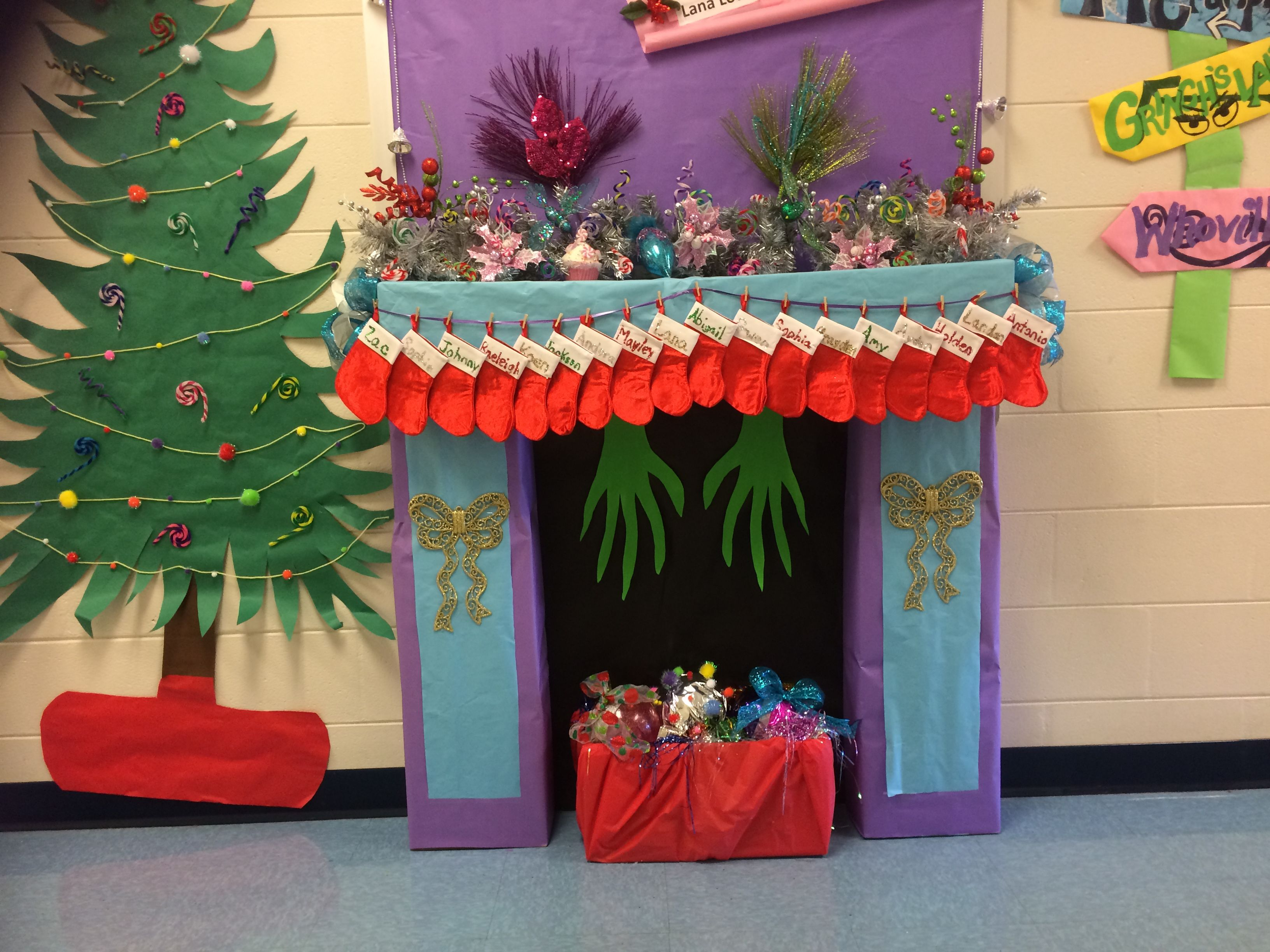 More Of My Whoville Mantle Grinch Christmas Party