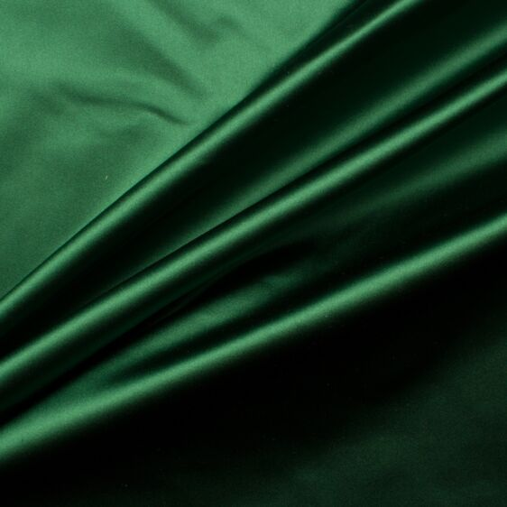 Deep Green Silk Duchess Satin