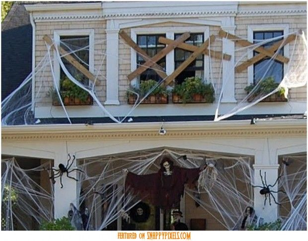 explore windows and doors front windows and more scary halloween decoration ideas for outside