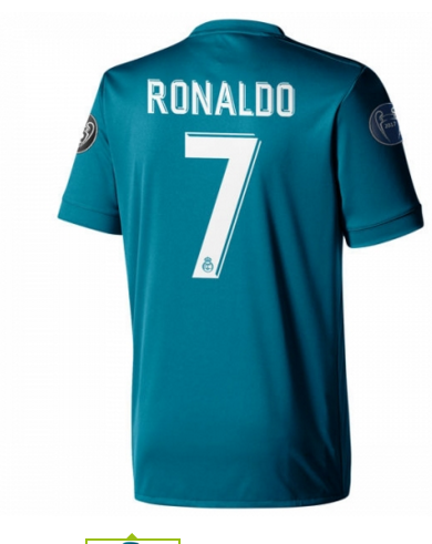 #Real Madrid 7 RONALDO Real Madrid Third Blue Climacool Fans Version Jersey  2017/18