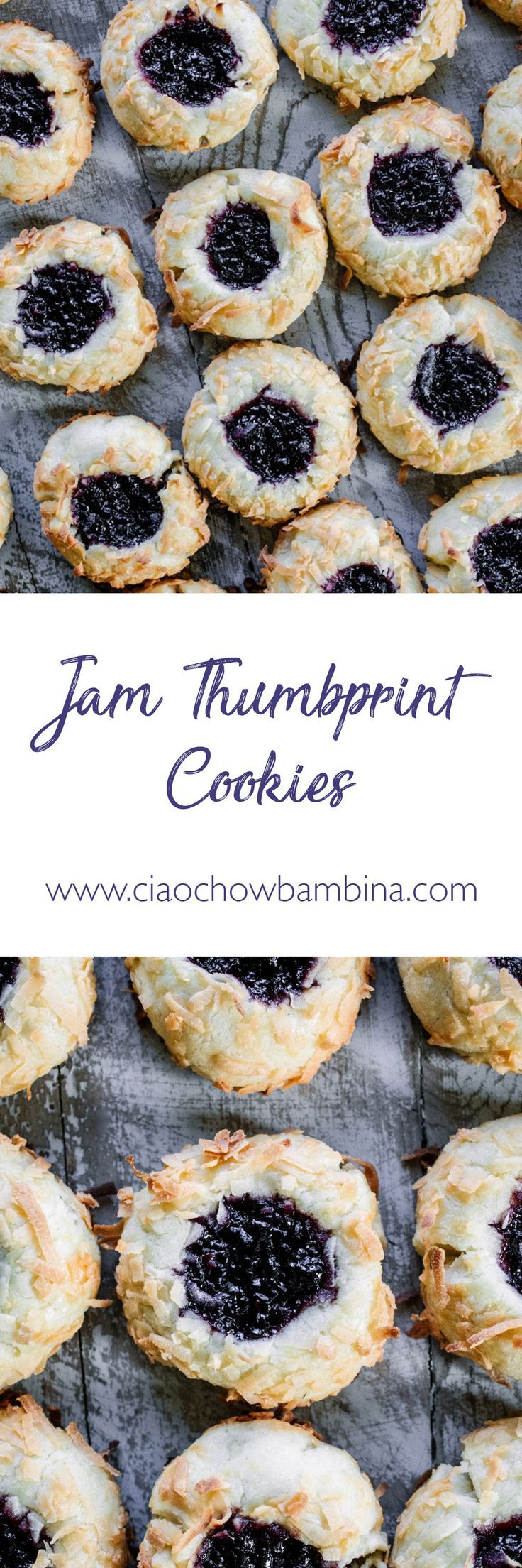 Jam Thumbprint Cookies Who doesn't love a good butter cookie? Am I right? A rich shortbread? These Jam Thumbprint Cookies deliver the decadence of a shortbread with the sweet complement of a tasty jam. |