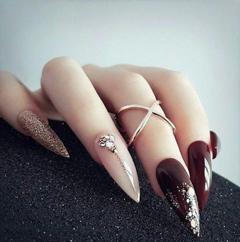 60 Best Stiletto Nails Designs Trendy For 2020 With Images
