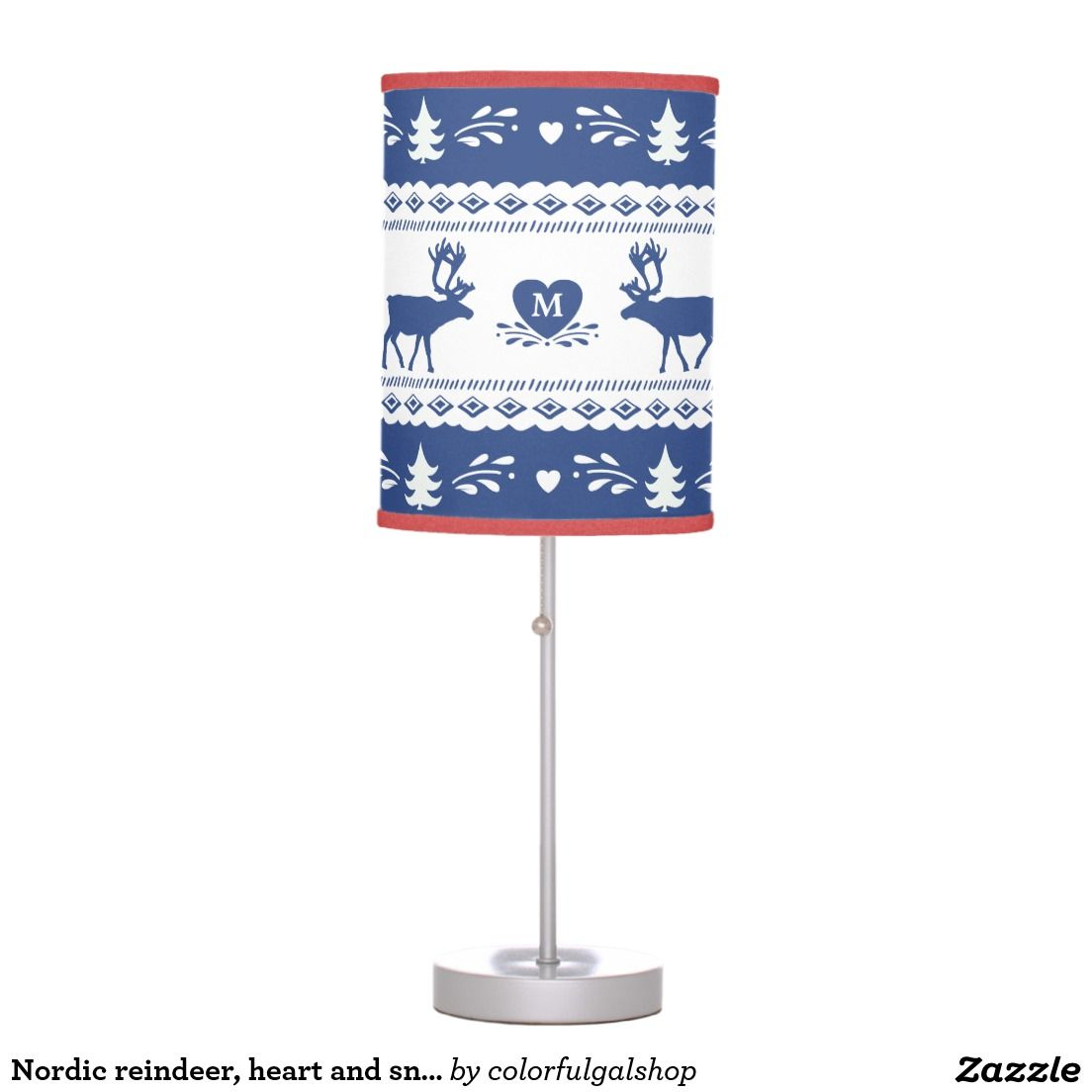 Create your own lamp | Zazzle.com | Snowflake pattern, Lamp, Decorating tips