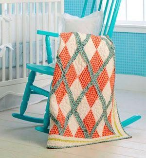 Argyle pattern quilt pattern