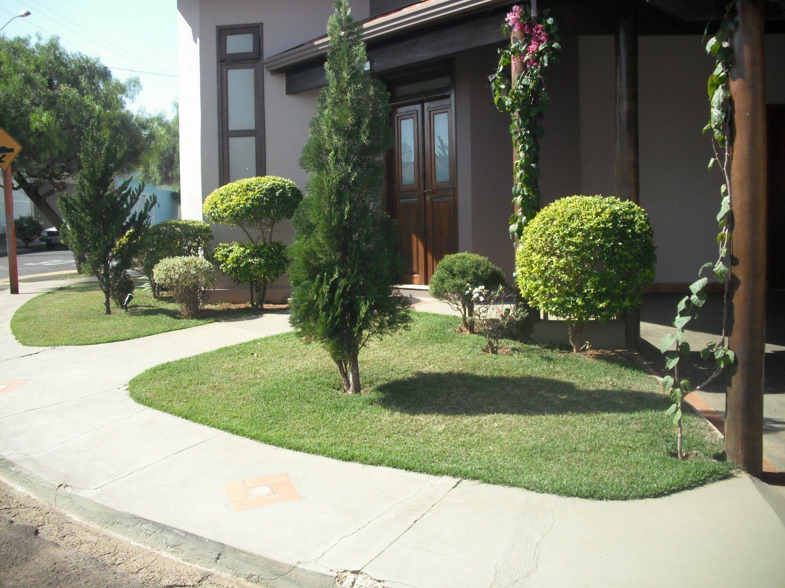 Modelos de jardins residenciais para frente de casa | Fachadas ...