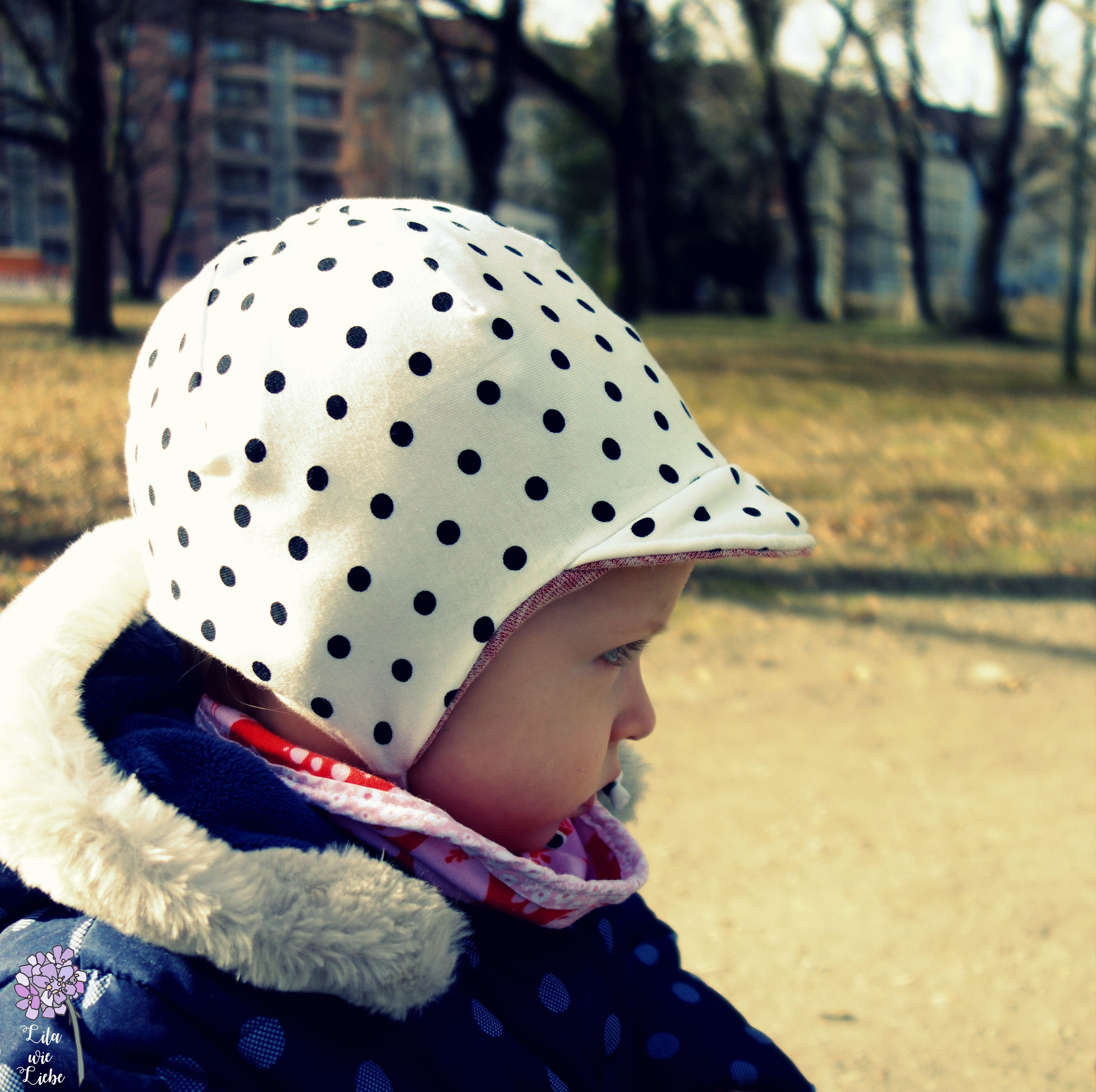 Supermüzz für den Frühling – Frühlingsmütze für Kinder selbst nähen – Lila wie Liebe