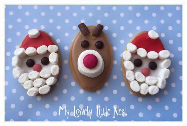 Christmas Biscuits Santa Rudolph No Bake Biscuits Lots Of Fun
