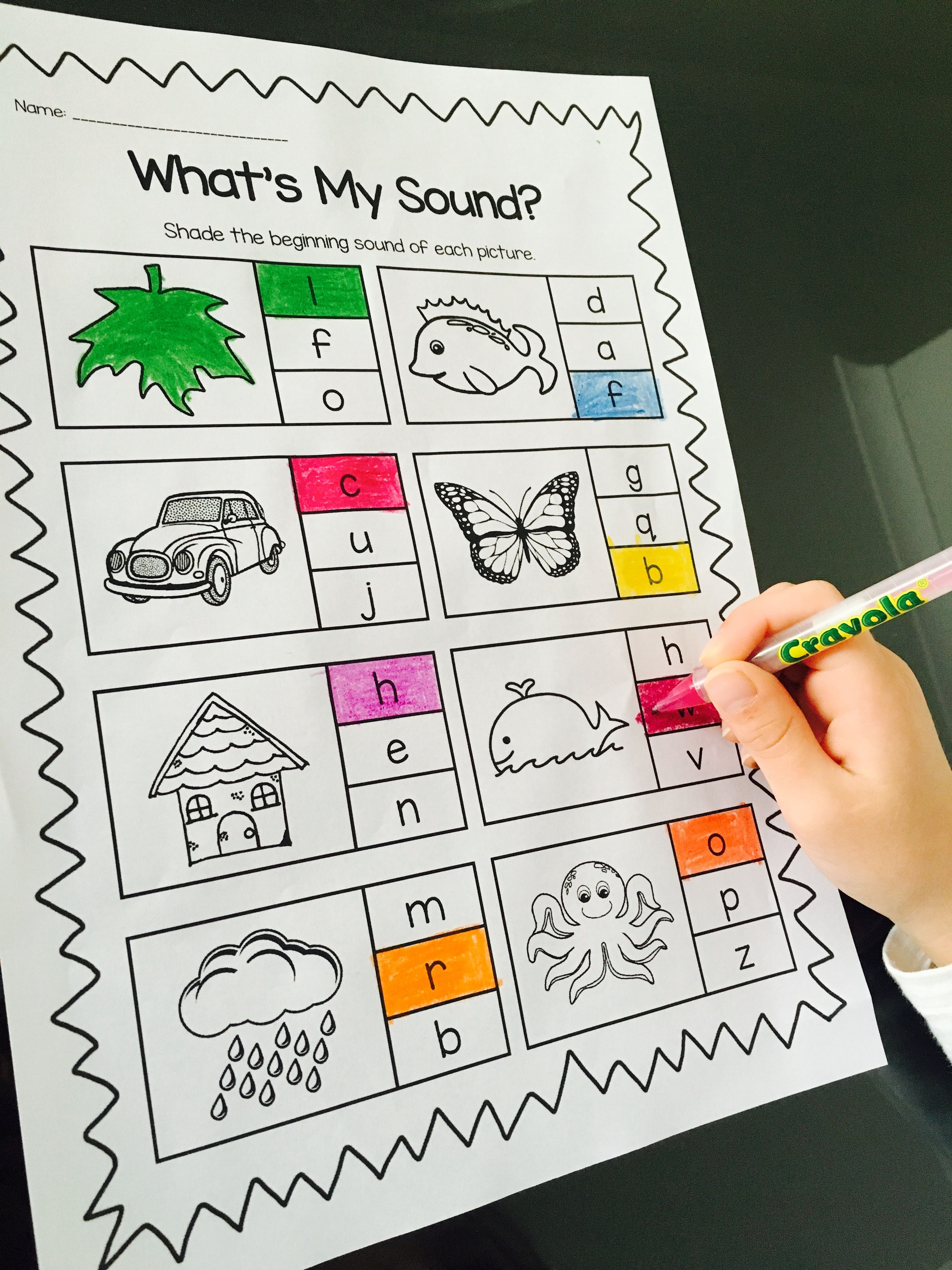 Phonics Printable Worksheet Bundle - Beginning Sounds and Early ...