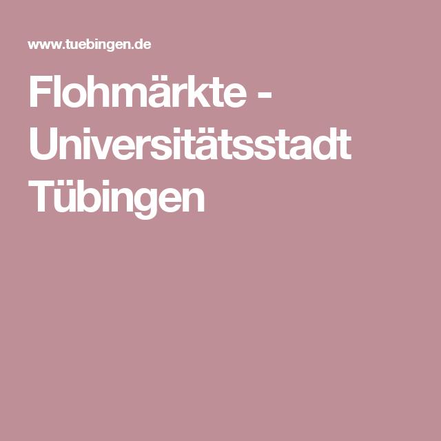 Flohmärkte - Universitätsstadt Tübingen