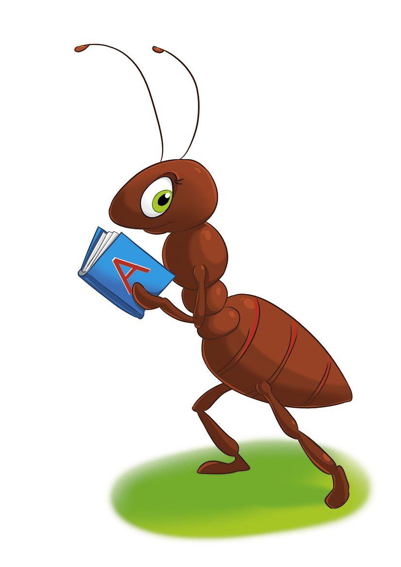 Милые, смешные рисунки муравей