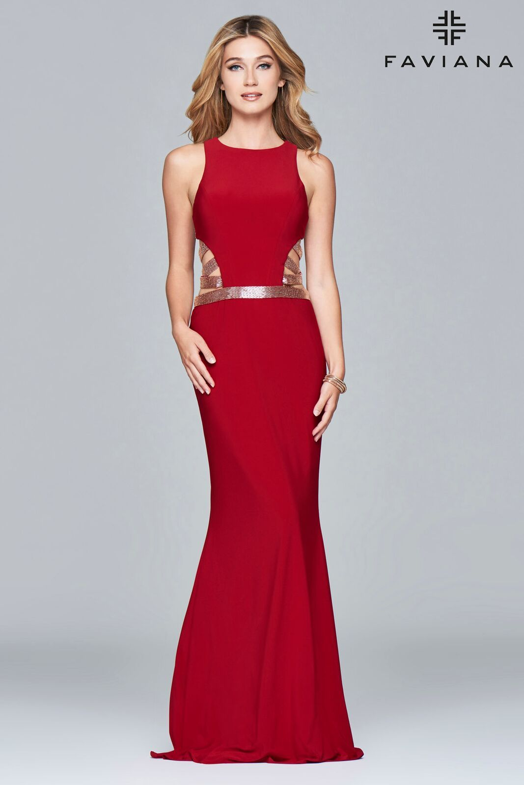 f63a3a6c8f  Faviana Style 7912 is sassy and bold. It features a halter neckline and a  fit and flare skirt and is perfect for an inverted triangle body shape  the  tight ...