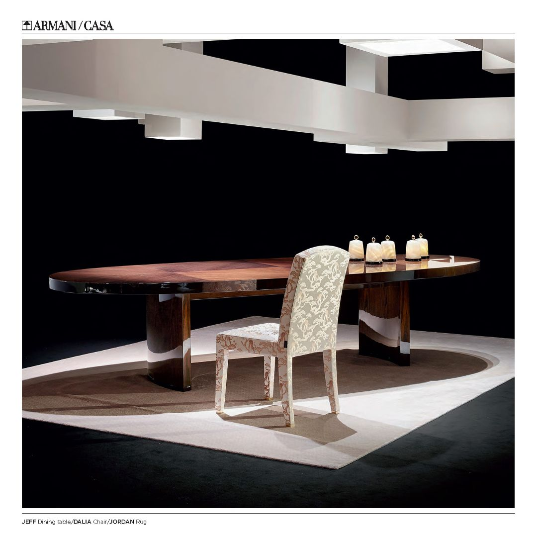 Some Products Of Armani/Casa. Dinning Table Jeff, Chair Dalia, Rug Jordan
