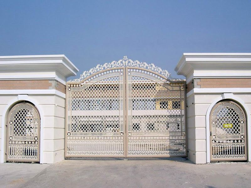 Iron gates with luxury design for impressive main gate entrance design to make awesome your home - Entrance gate design for home ...