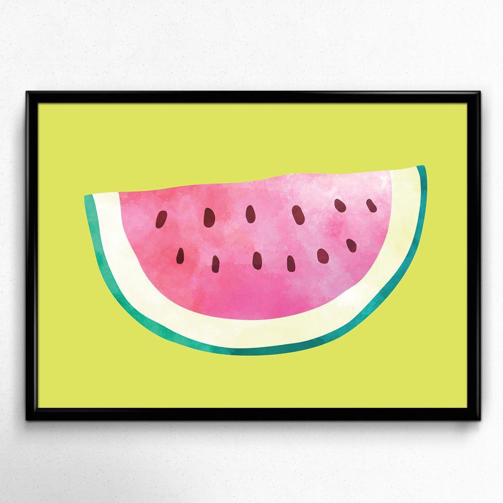 Details zu Bild Melone Modern Kunstdruck A4 Küche Früchte Deko ...