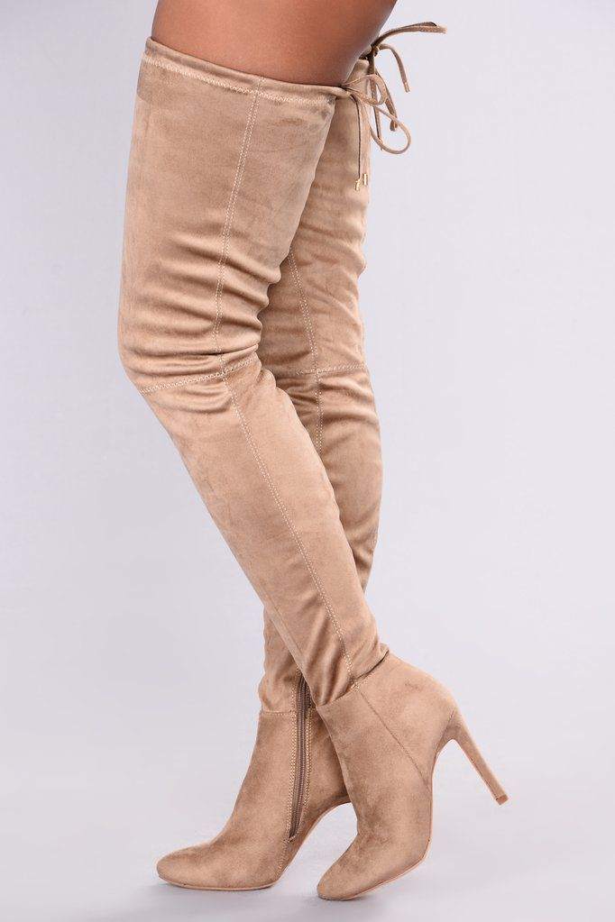 28597821583 A Tall Tale Over The Knee Boot - Taupe
