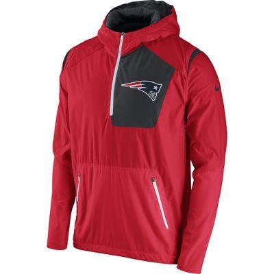 8df2c9a12f Men s New England Patriots Nike Red Vapor Speed Fly Rush Half-Zip Jacket