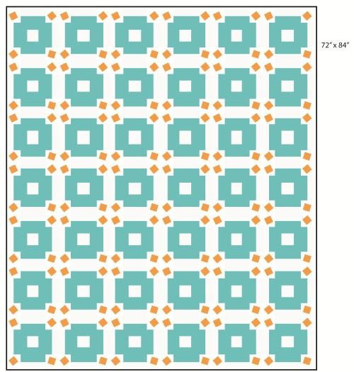 Jumble quilt top-this comes with a link to the free pattern download
