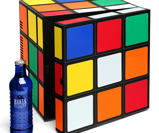 When it comes to functionality and style, you'd be hard pressed to find a better candidate than the Rubik's cube mini fridge. This compact fridge will keep your drinks and snacks nice and cool while adding to the room's eclectic decor.