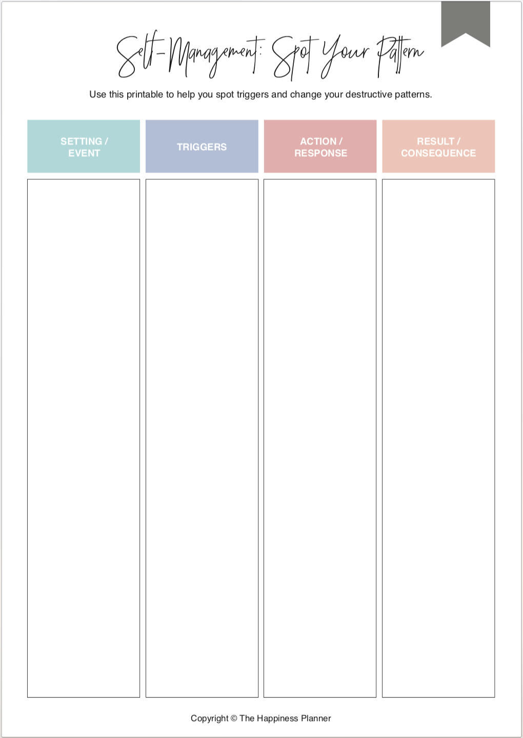 Printables Habits/Patterns [1]   Therapy worksheets ...
