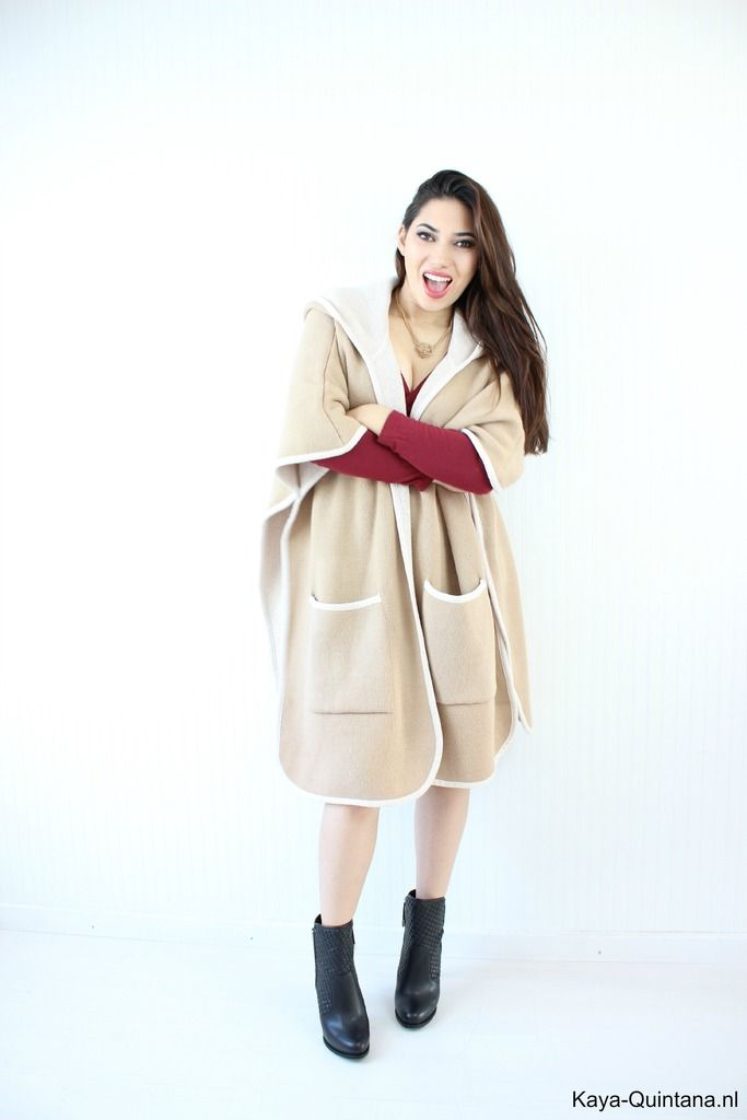 cape coat with pockets