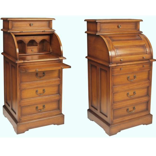 Narrow study bureau mahogany home furniture - Best desks for small spaces ...