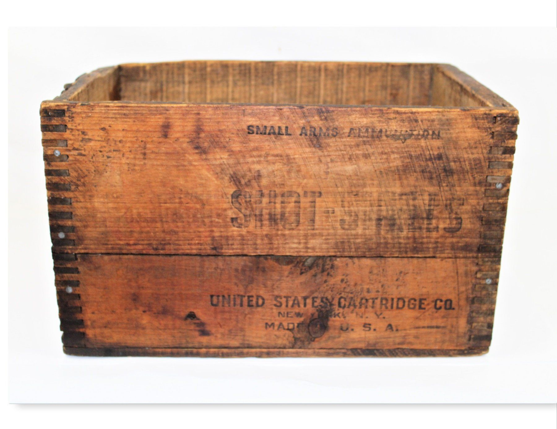 Antique Crate Ammunitions Wood Box United States Cartridge Company Rustic Wood Crate Wood Boxes Crates Wood Crates