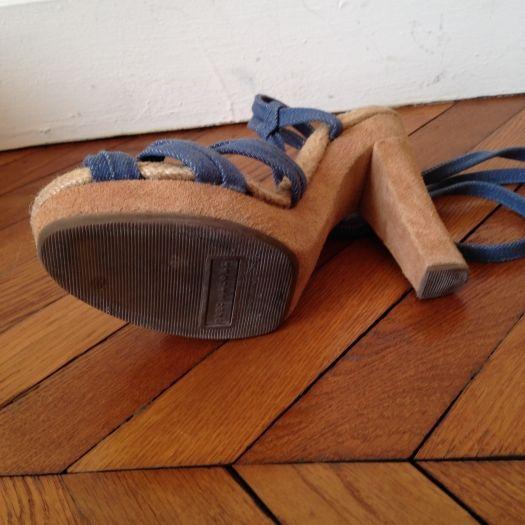Sandales à talons MARC JACOBS Bleu