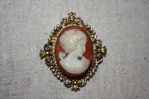 Vintage Avon Cameo Locket Brooch by ITHwhichVintage on Etsy, $15.00