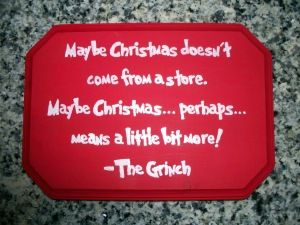 """How to paint words or text. DIY """"The Grinch"""" Christmas plaque."""