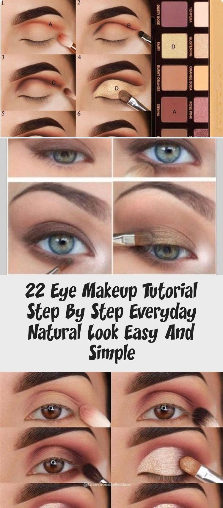 22 Eye Makeup Tutorial Step By Step Everyday Natural Look
