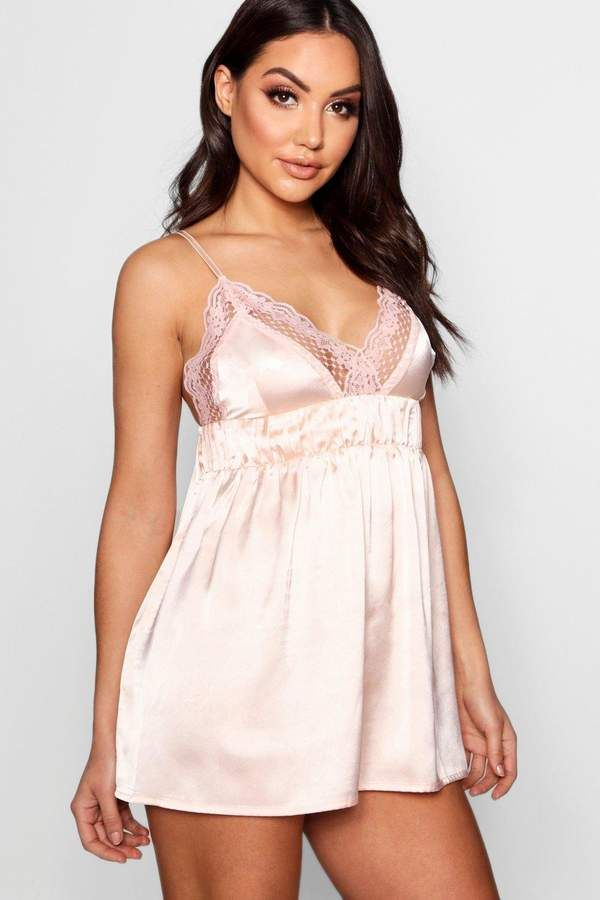 c90378d92 Ruched Lace   Satin Babydoll in 2019