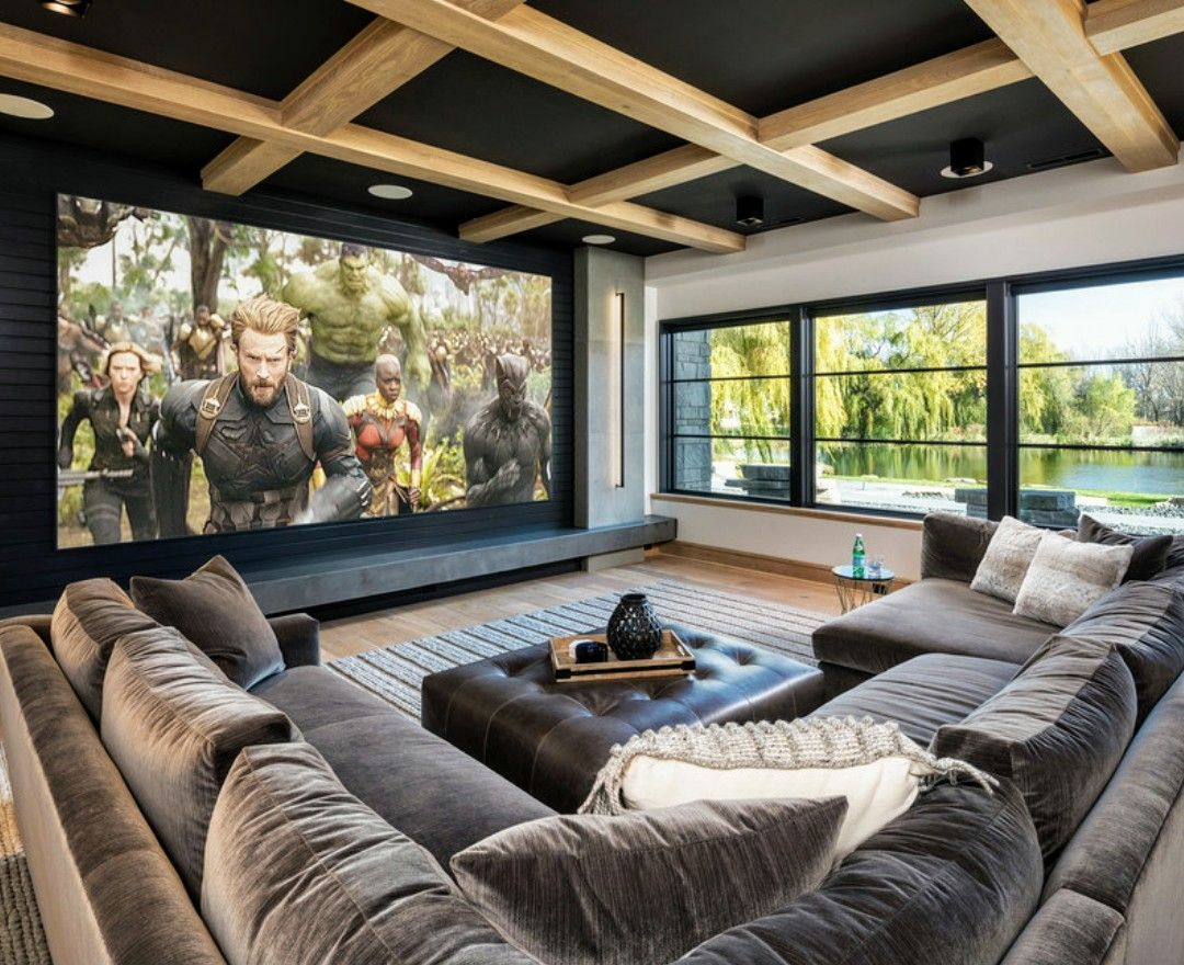 2019 Best Media Room Ideas #dreamhouserooms