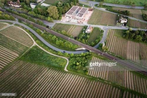08-05 Aerial view Eltville-Hattenheim - vineyards, road and... #eltville: 08-05 Aerial view Eltville-Hattenheim - vineyards,… #eltville