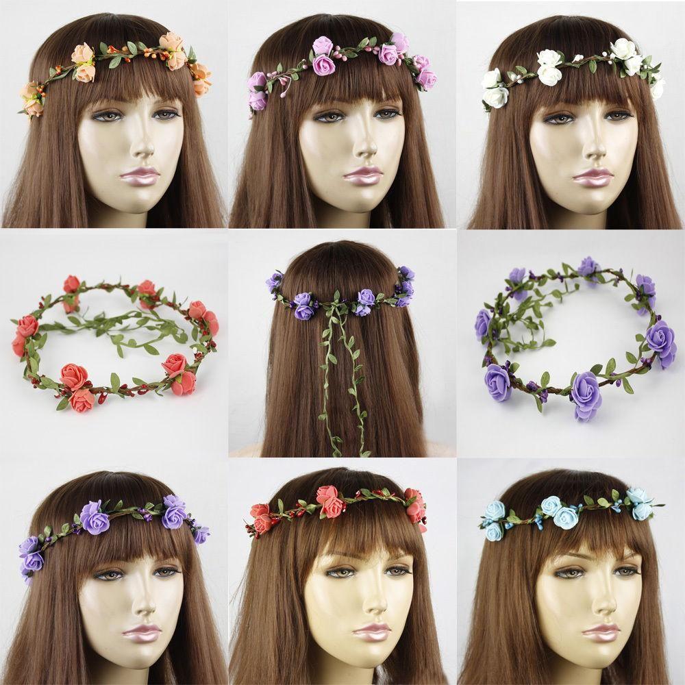 2015 new children's hair accessories girls' boho flower round