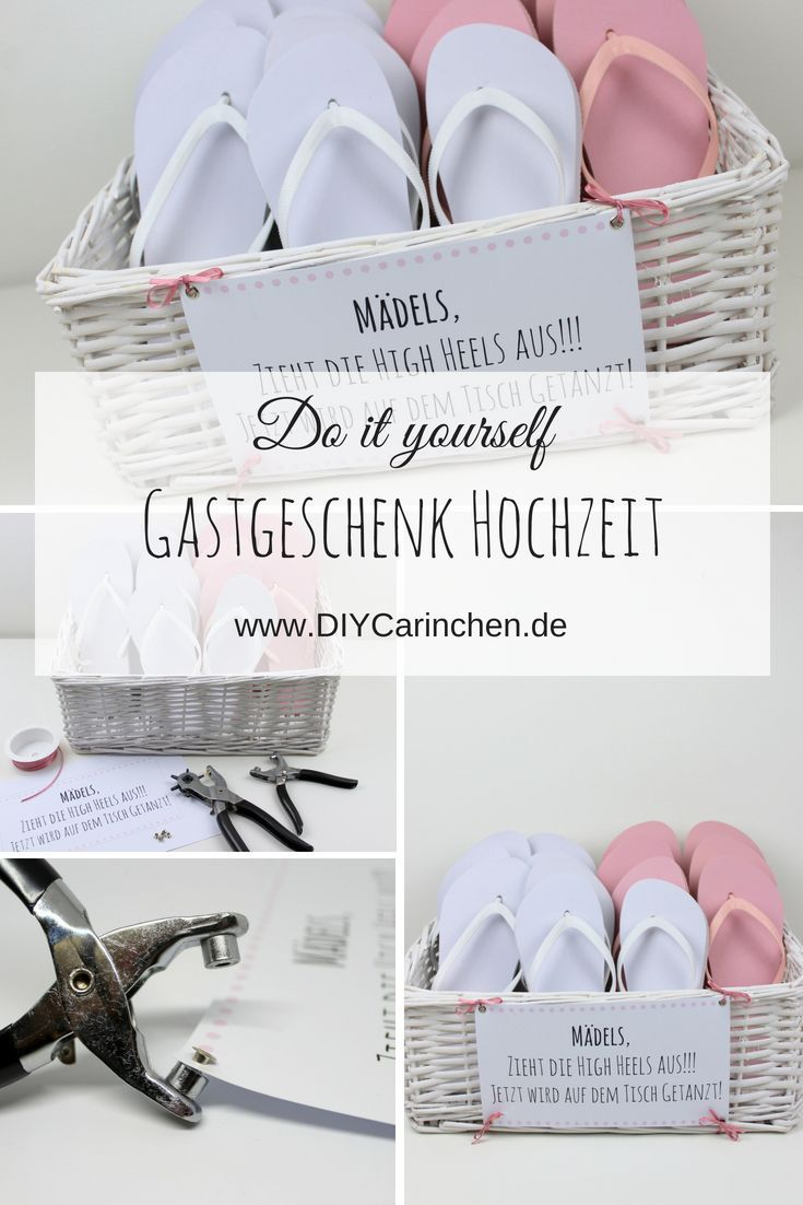 DIY Party favor Flip Flop Korb – zieh die High Heels aus!