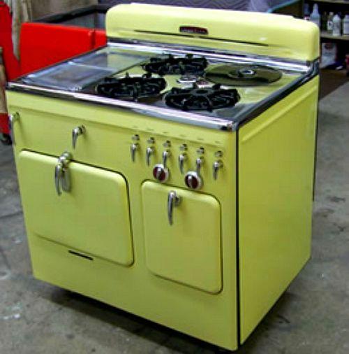 new vintage look kitchen appliances | vintage stove interior