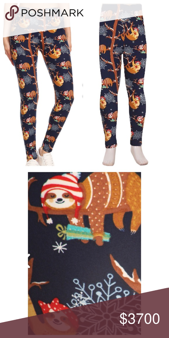 d29d636441b235 COMING SOON Mommy & Me holiday sloth leggings Price will be reduced to $37  when available. Like for a notification and potential shipping discount.