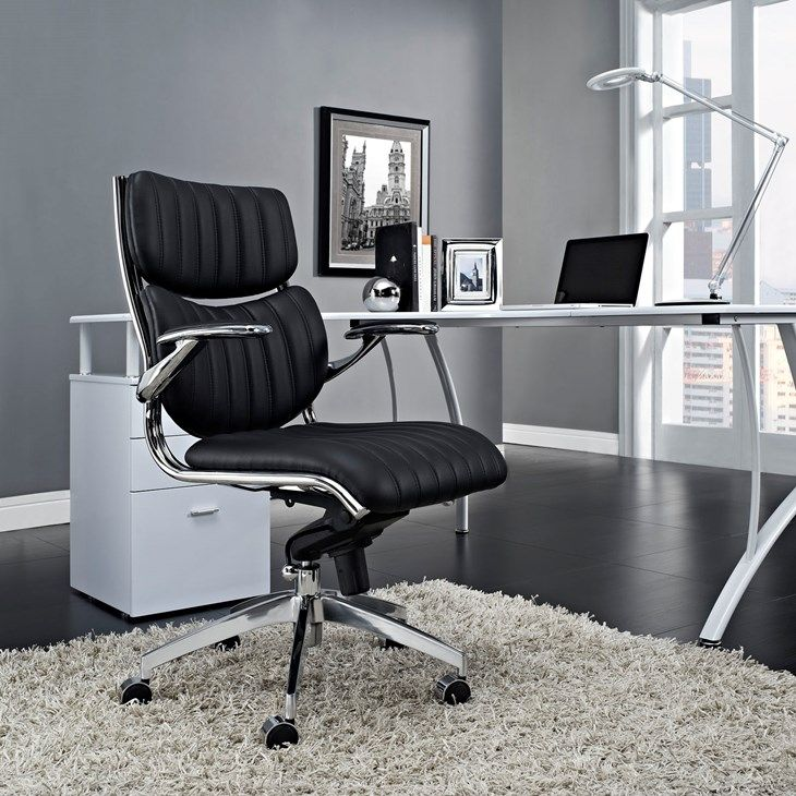 Swell Escape Mid Back Office Chair In Black Lifestyle Beryl Theyellowbook Wood Chair Design Ideas Theyellowbookinfo