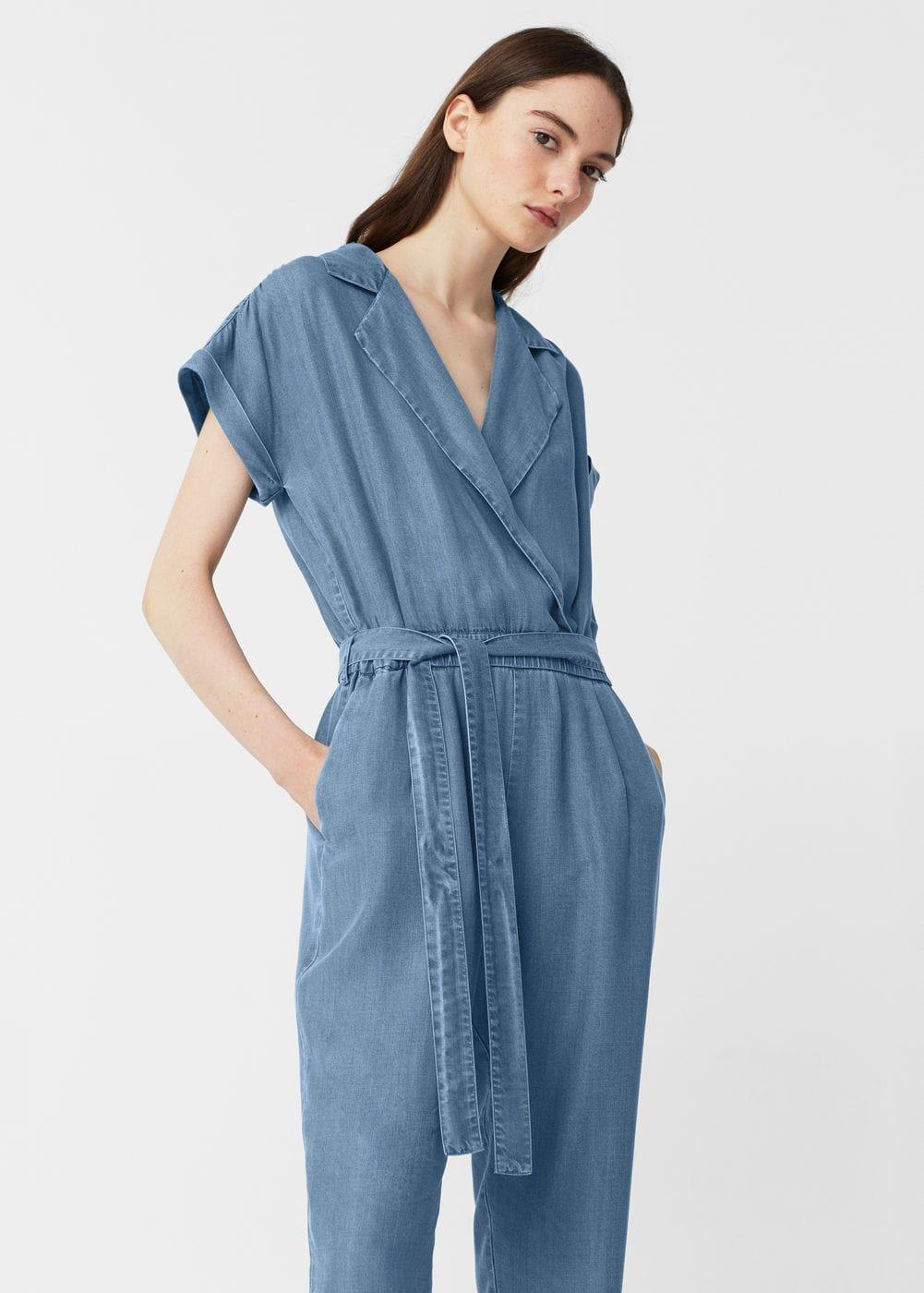 8caca1d468a1a Combinaison denim moyen - Femme   mode   Pinterest   Fibre, Mango ...