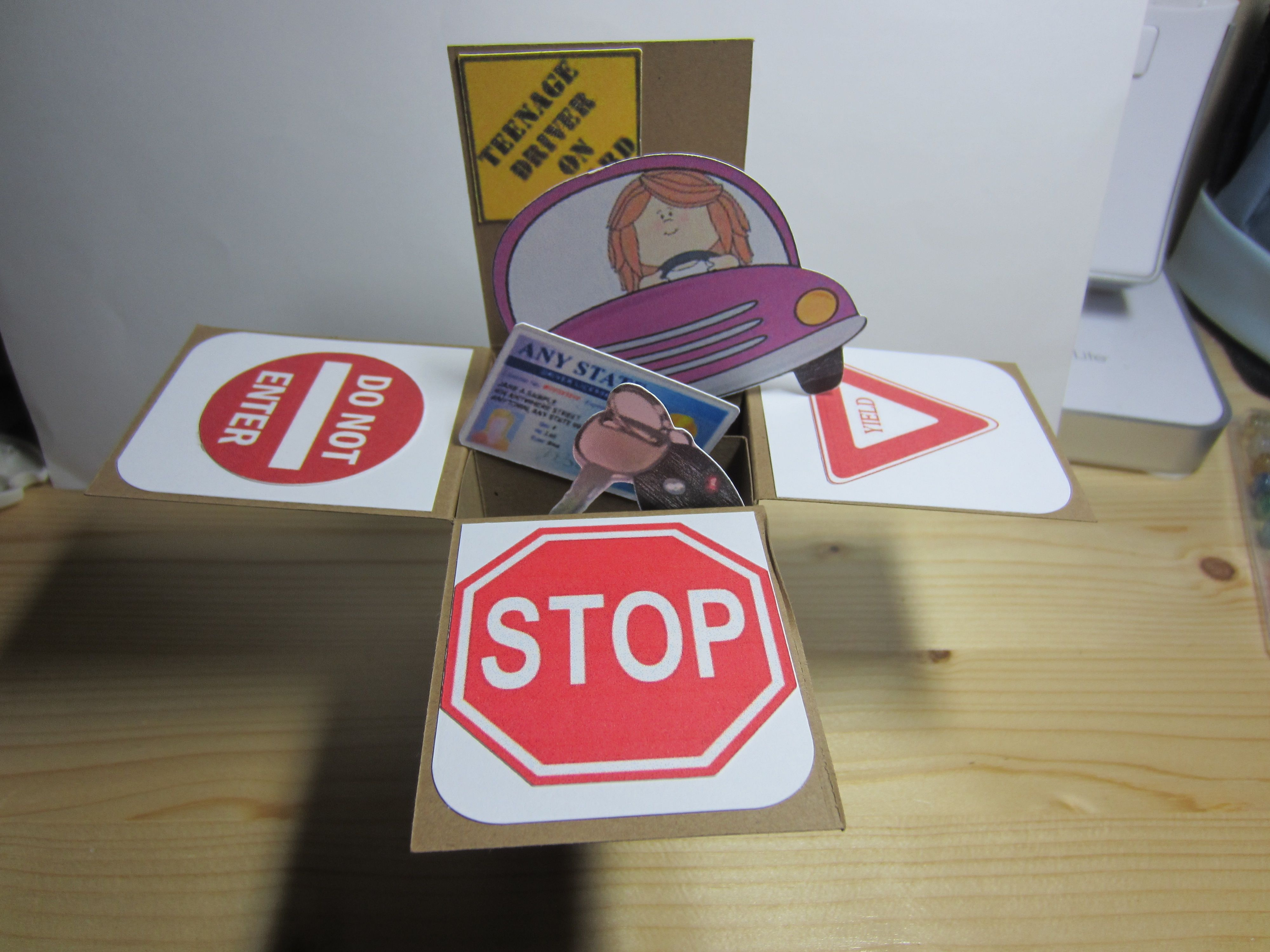 New driver birthday card popup box cards pinterest cards