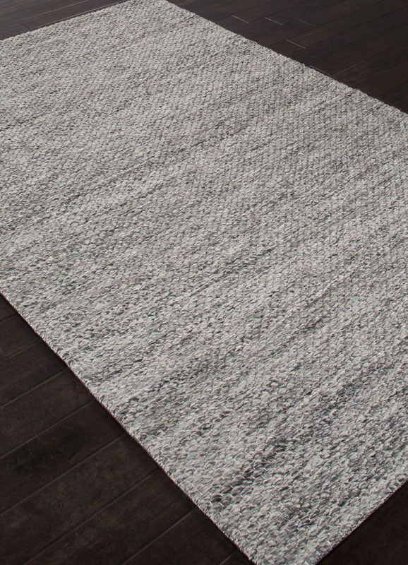 Jaipur Rugs Rug111007 Handmade Textured Wool Gray Area